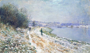 Claude Monet - The Tow Path at Argenteuil, Winter