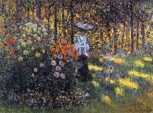 Claude Monet - Woman with a Parasol in the Garden in Argenteuil