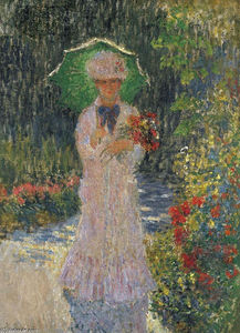 Claude Monet - Camille with Green Parasol