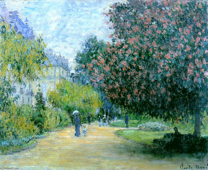 famous painting Park Monceau of Claude Monet