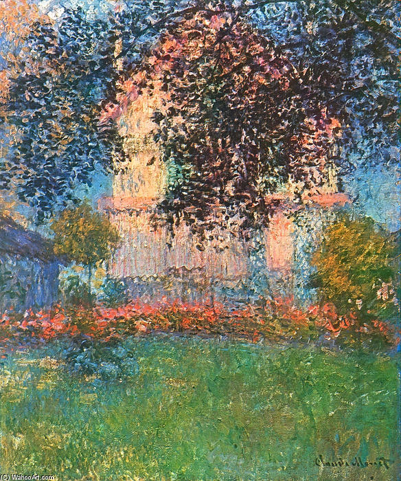 famous painting The Artist's House in Argenteuil of Claude Monet