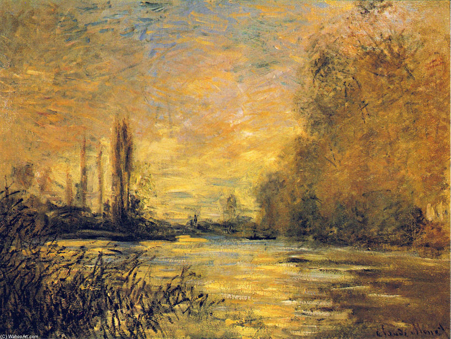 famous painting The Small Arm of the Seine at Argenteuil of Claude Monet