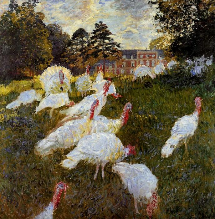 famous painting The Turkeys of Claude Monet