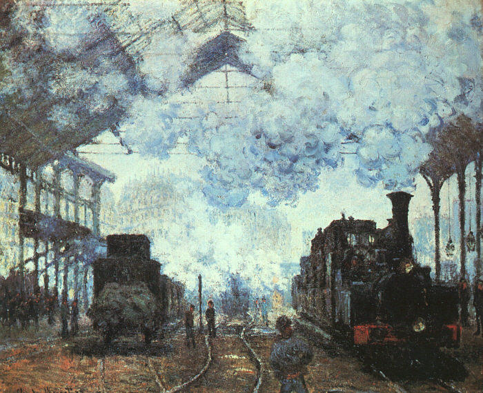 famous painting Gare St.-Lazare of Claude Monet