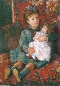 Claude Monet - Portrait of Germaine Hoschede with a Doll
