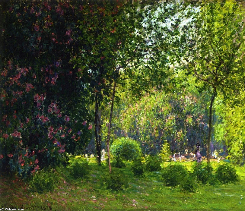famous painting Park Monceau 2 of Claude Monet