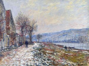 Claude Monet - The Siene at Lavacourt, Effect of Snow