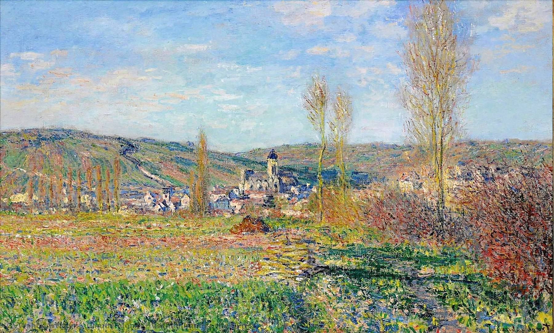 famous painting Vetheuil under the Sun of Claude Monet