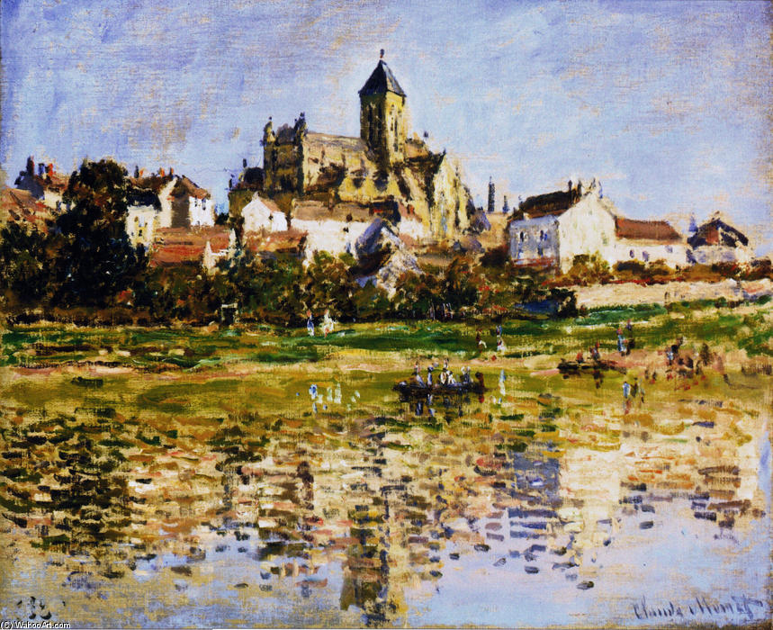 famous painting Vetheuil, The Church of Claude Monet