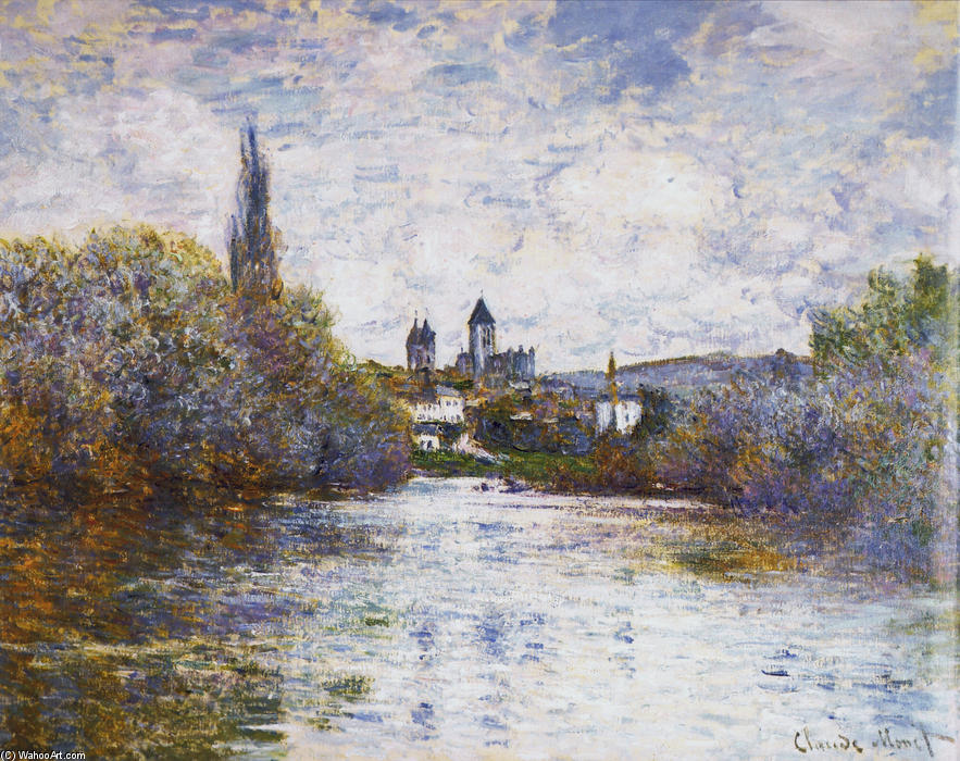 famous painting Vetheuil, The Small Arm of the Seine of Claude Monet