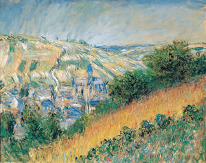 Claude Monet - View over Vetheuil