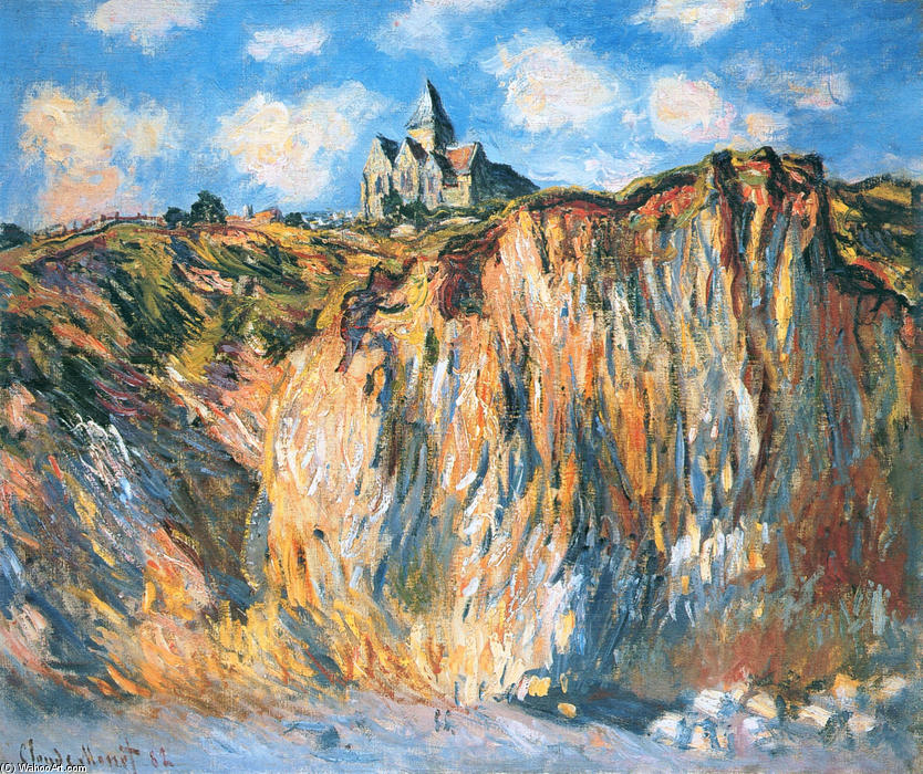famous painting Church at Varengeville, Morning of Claude Monet