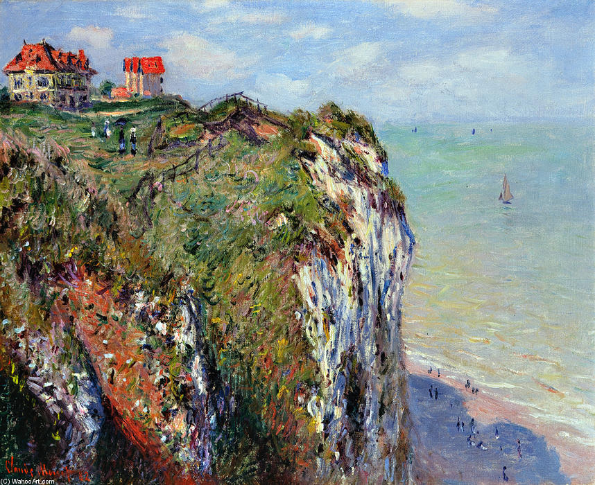 famous painting Cliff at Dieppe of Claude Monet