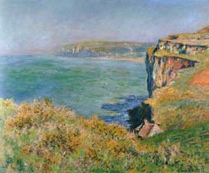 Claude Monet - Cliff at Grainval