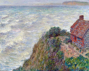 Claude Monet - Fisherman`s House in Petit-Ailly