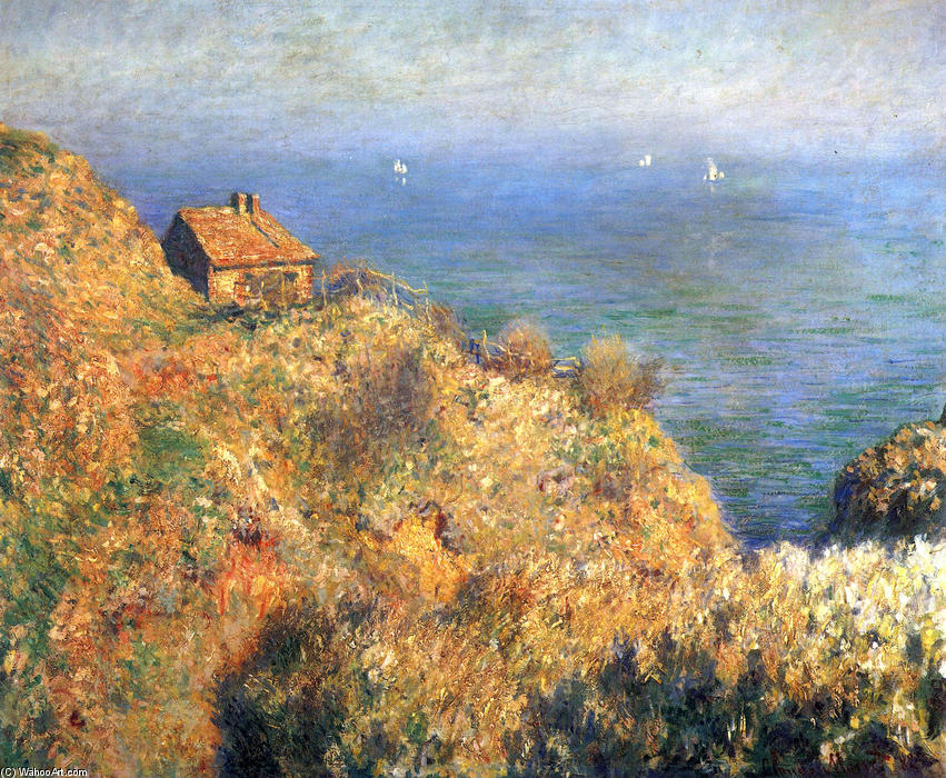 famous painting Fisherman's House at Varengeville of Claude Monet