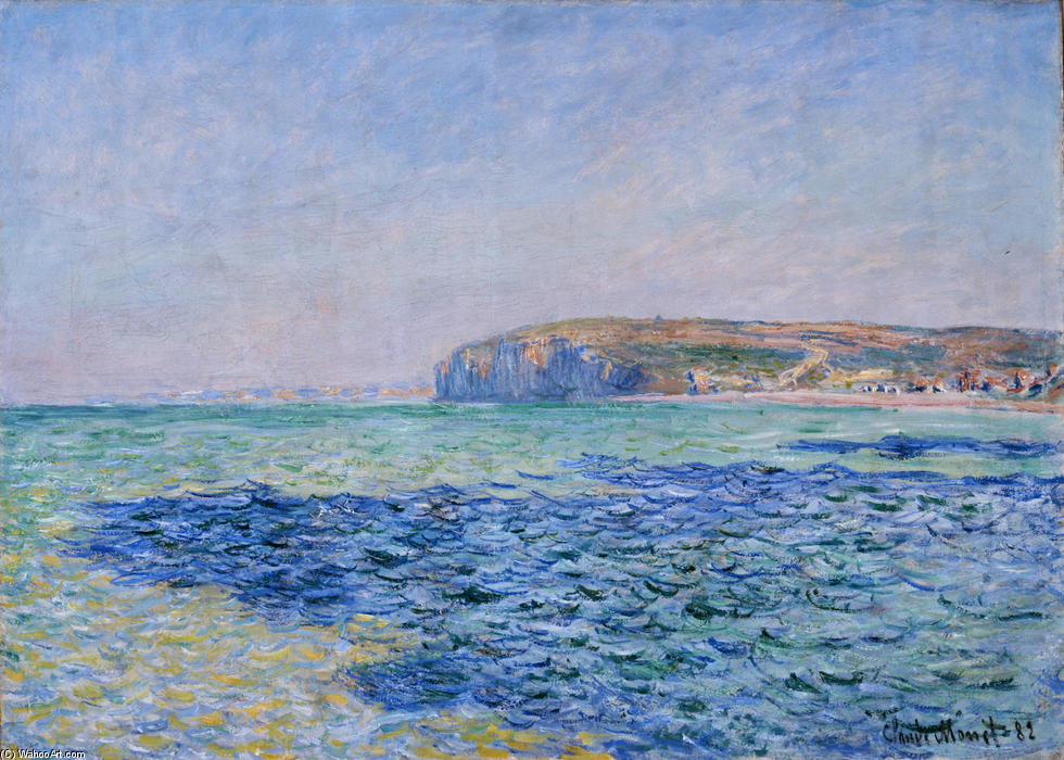 famous painting Shadows on the Sea at Pourville of Claude Monet