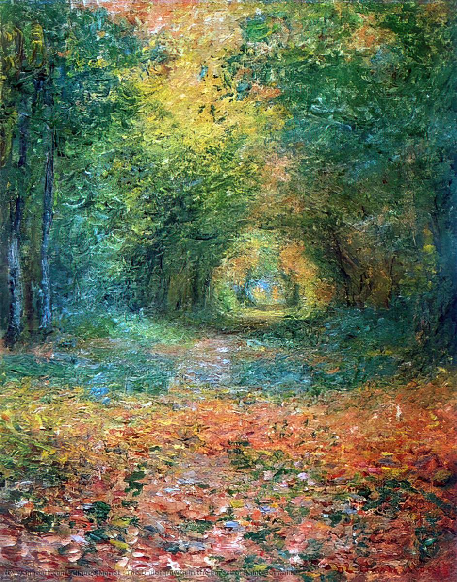 famous painting The Undergrowth in the Forest of Saint-Germain of Claude Monet