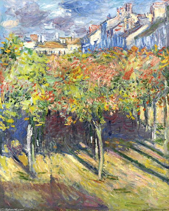 famous painting The Lindens of Poissy of Claude Monet