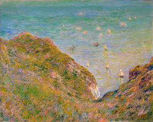 Claude Monet - View from the Cliff at Pourville, Bright Weather