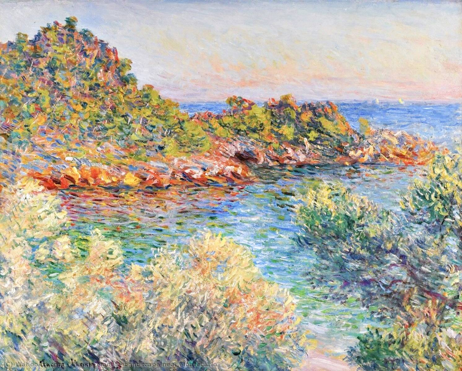 famous painting Landscape near Montecarlo of Claude Monet