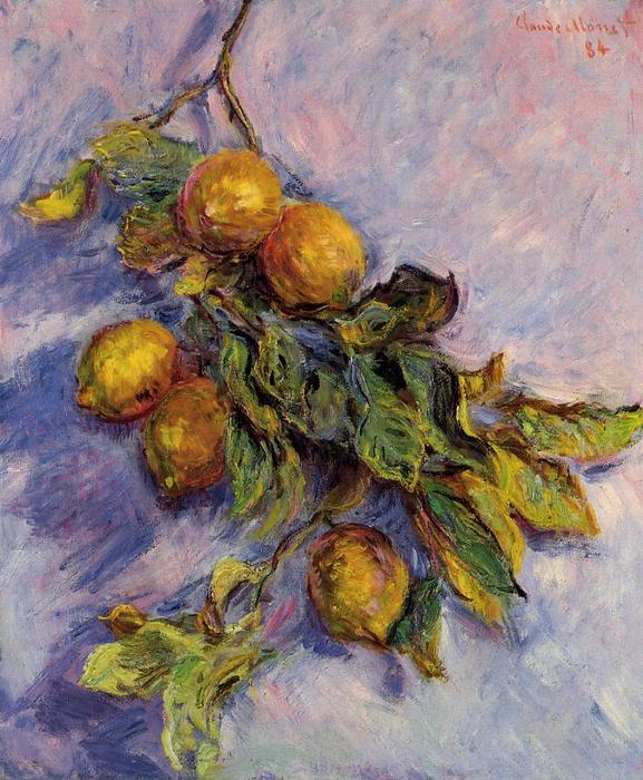 famous painting Branch of Lemons of Claude Monet