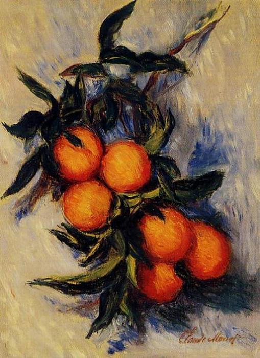 famous painting Branch of Orange Bearing Fruit of Claude Monet
