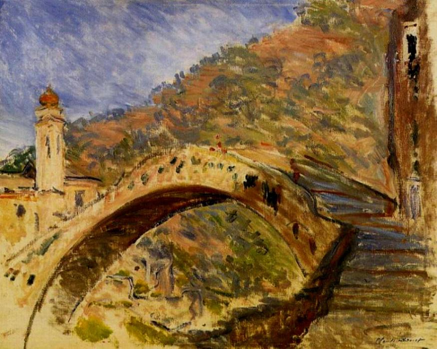 famous painting Dolceacqua, Bridge of Claude Monet