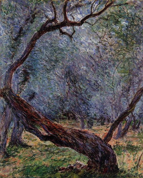 famous painting Olive Trees (Study) of Claude Monet
