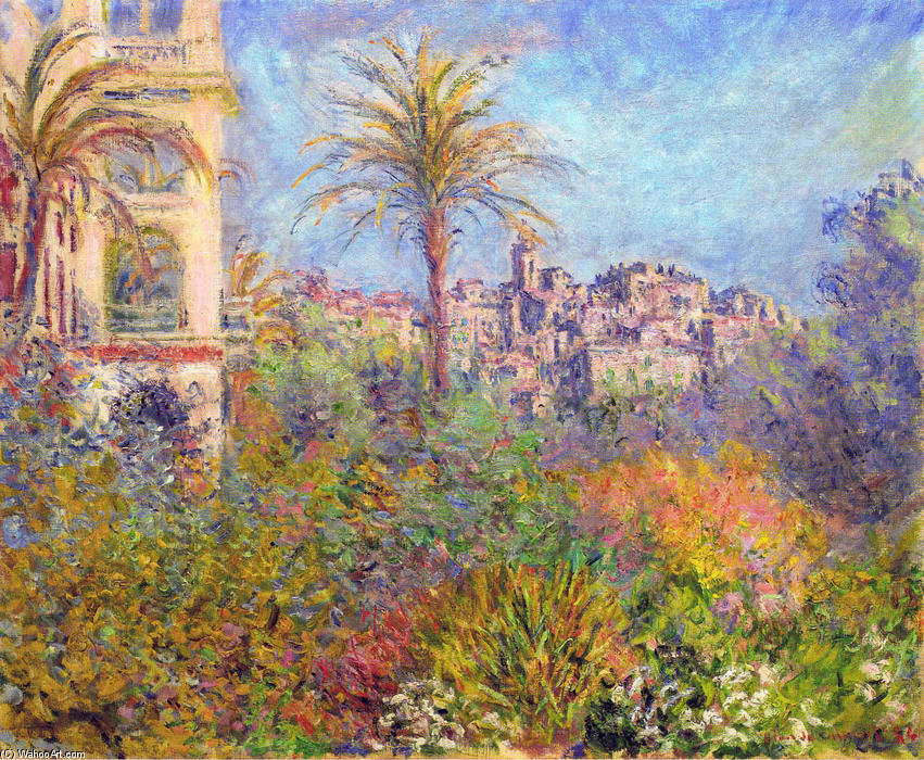 famous painting Villas at Bordighera 03 of Claude Monet