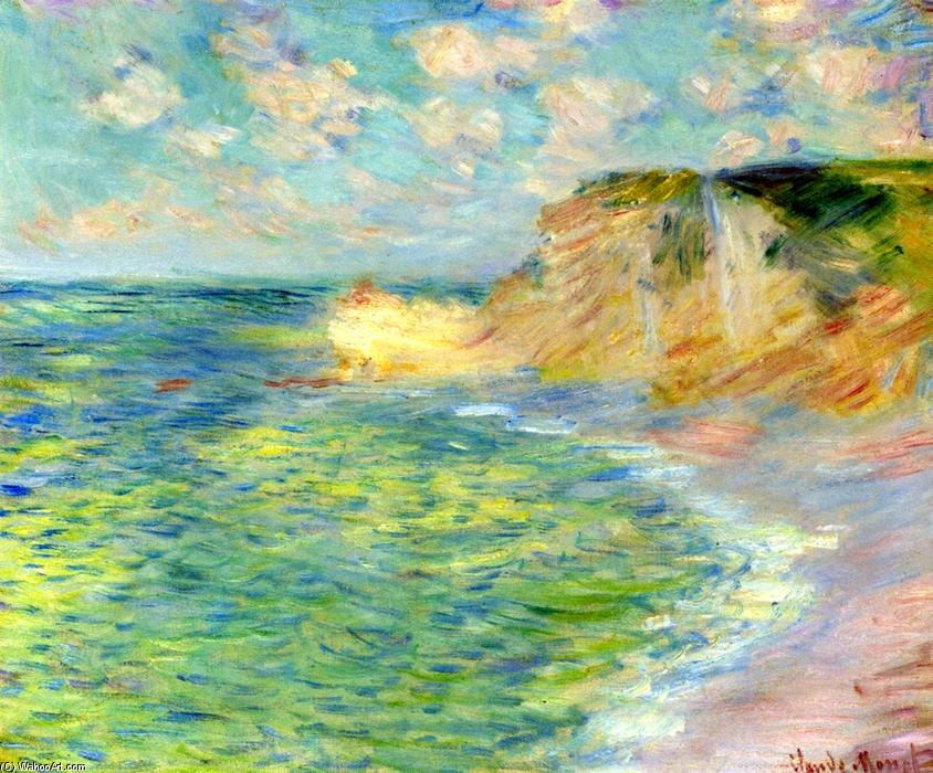 famous painting Cliffs at Amont of Claude Monet