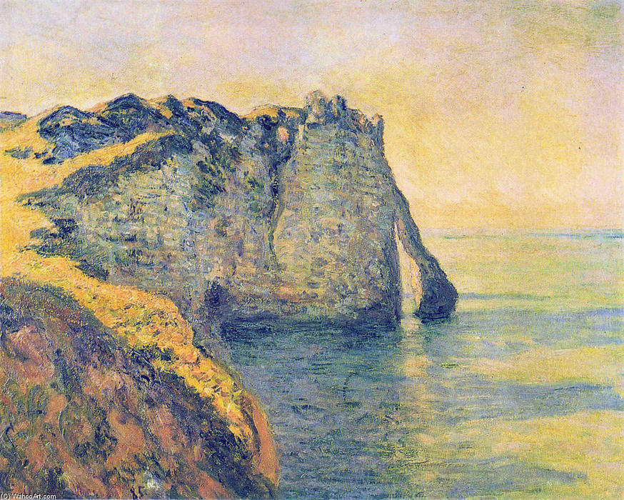 famous painting Cliffs of the Porte d'Aval of Claude Monet