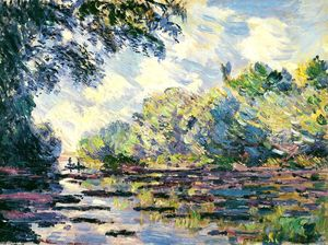 Claude Monet - Section of the Seine, near Giverny