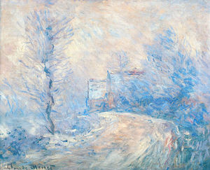 Claude Monet - The Entrance to Giverny under the Snow