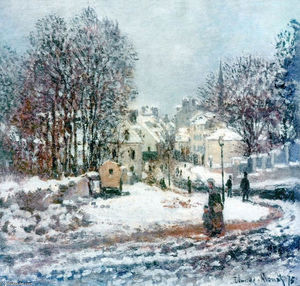 Claude Monet - The Grand Street Entering to Argenteuil, Winter