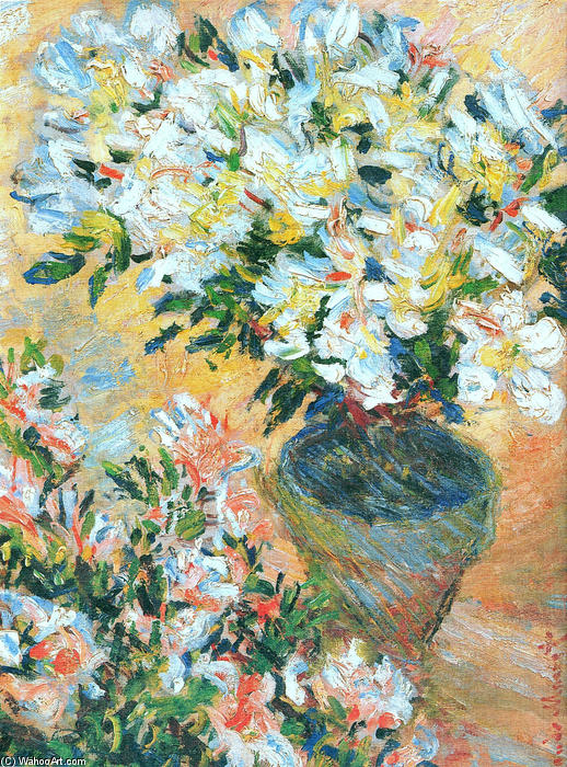 famous painting White Azaleas in a Pot of Claude Monet
