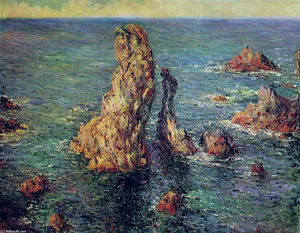 Claude Monet - The Pyramids at Port-Coton