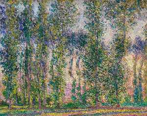 Claude Monet - Poplars at Giverny