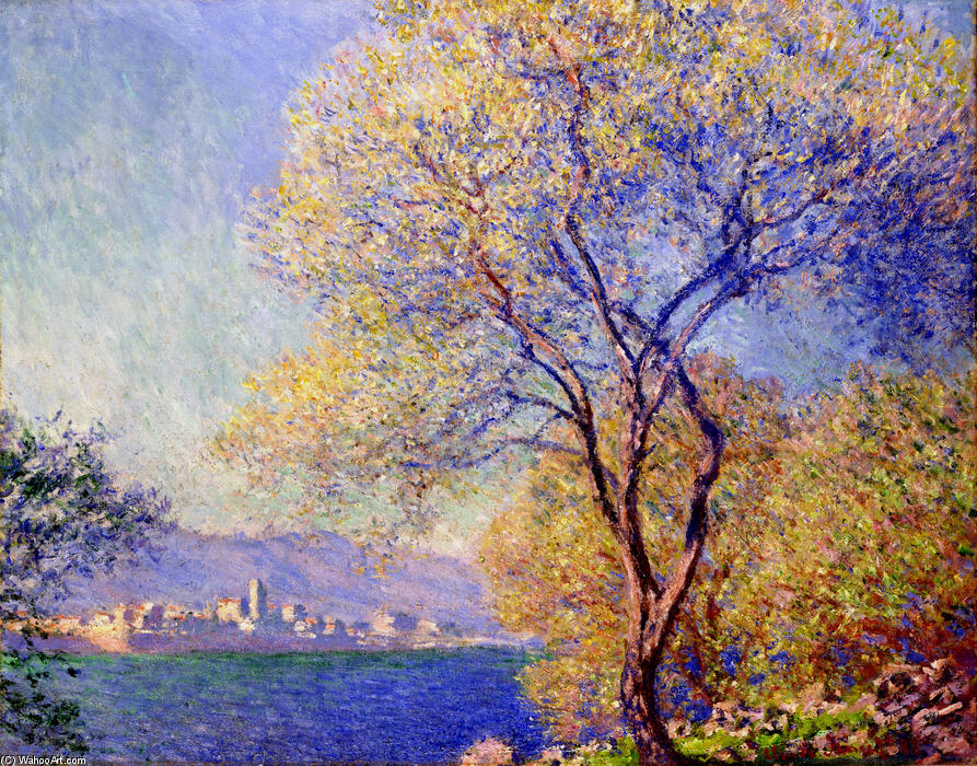 Order Art Reproductions Impressionism | Antibes Seen from the Salis Gardens 01 by Claude Monet | TopImpressionists.com