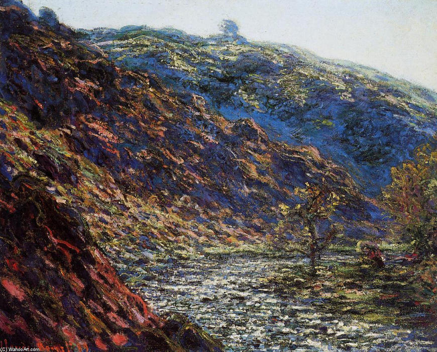 famous painting The Old Tree, Gorge of the Petite Creuse of Claude Monet