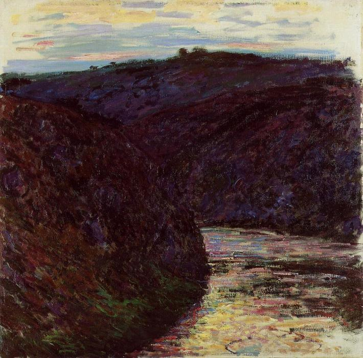 famous painting Valley of the Creuse of Claude Monet