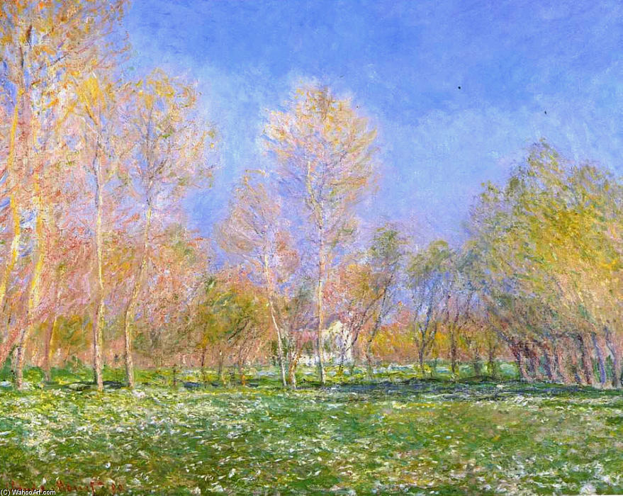 famous painting Springtime in Giverny of Claude Monet