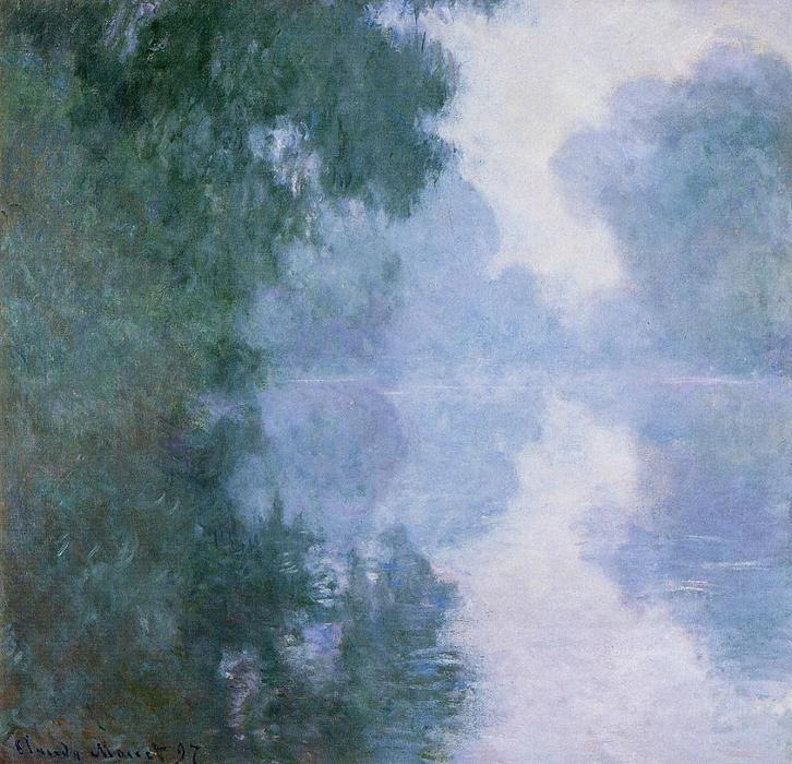 famous painting Morning on the Seine near Giverny, the Fog of Claude Monet