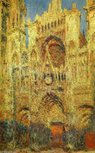 Claude Monet - Rouen Cathedral at Sunset