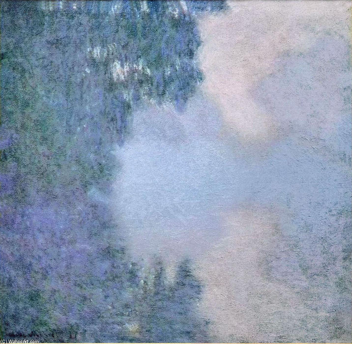 famous painting Morning on the Seine 02 of Claude Monet
