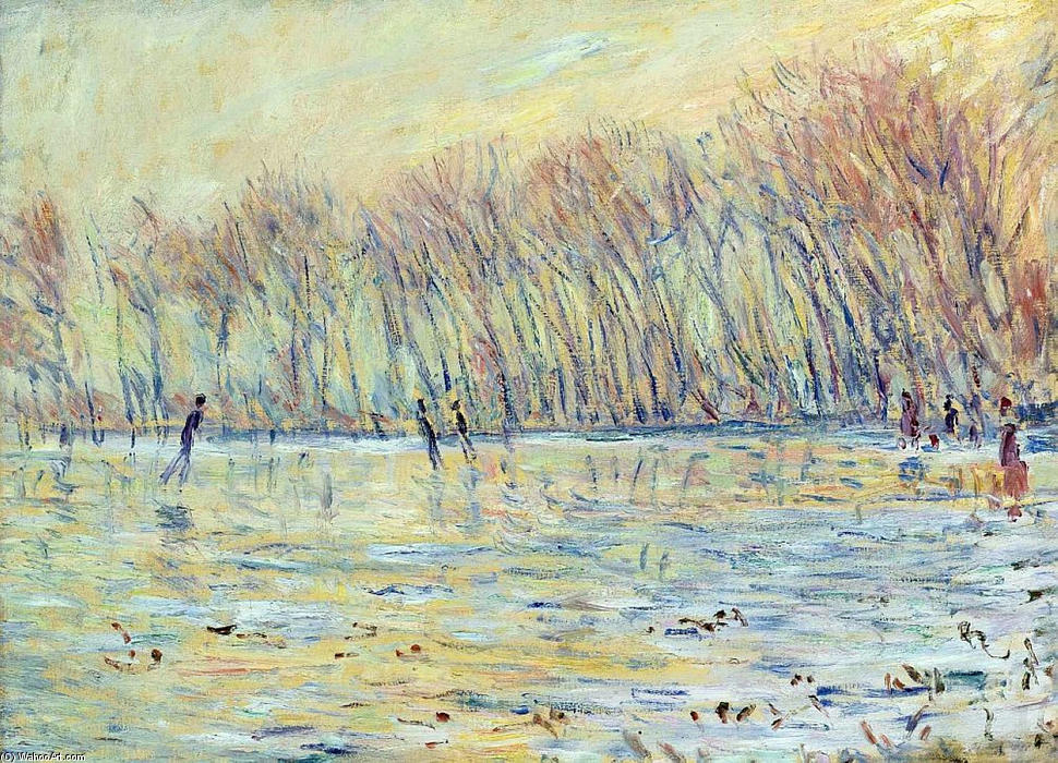 famous painting Scaters in Giverny of Claude Monet