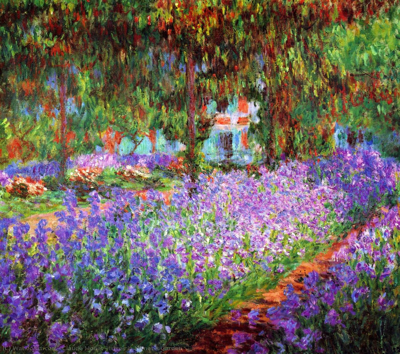famous painting Irises in Monet's Garden of Claude Monet