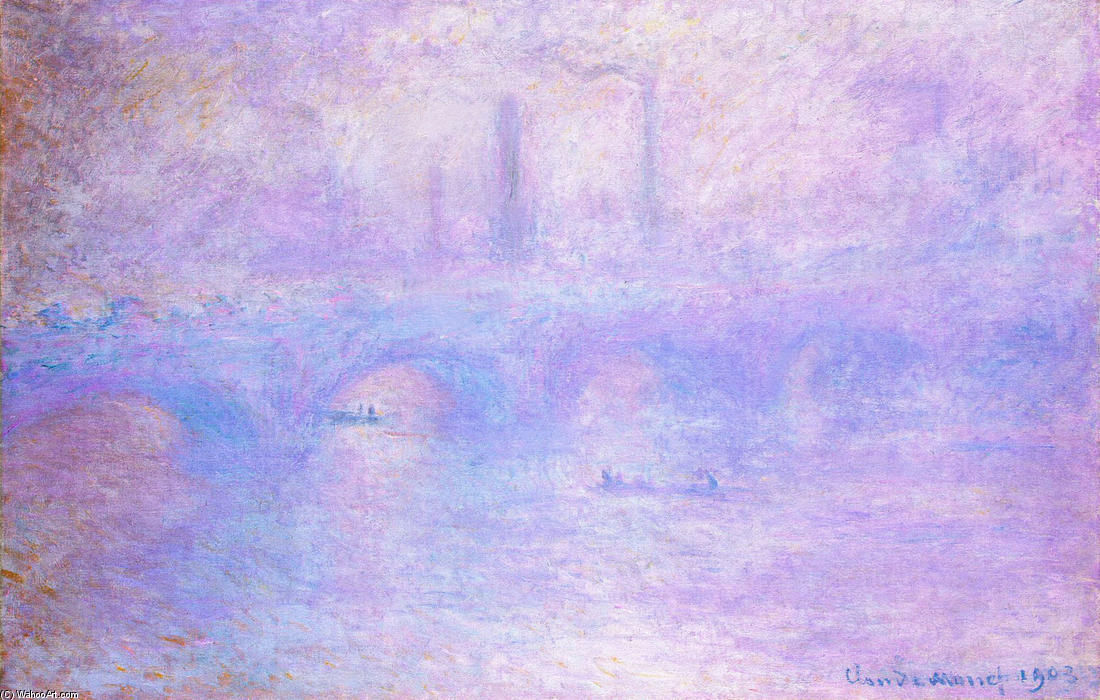 famous painting Waterloo Bridge, Fog of Claude Monet