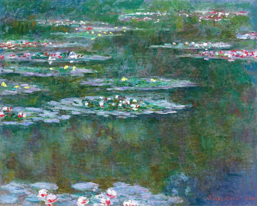 famous painting Water Lilies (10) of Claude Monet
