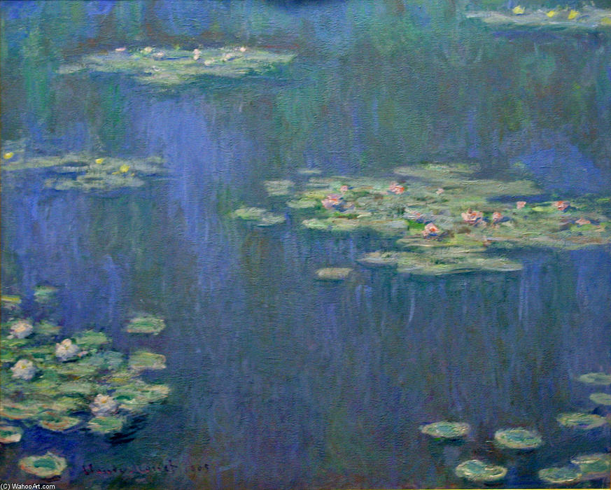 famous painting Water Lilies (16) of Claude Monet